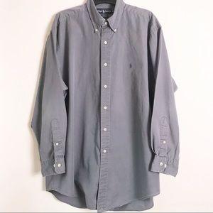 Ralph Lauren YARMOUTH Gray Dress Shirt 16.5 32/33